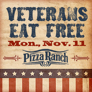 Veterans Eat Free on Monday, Nov. 11